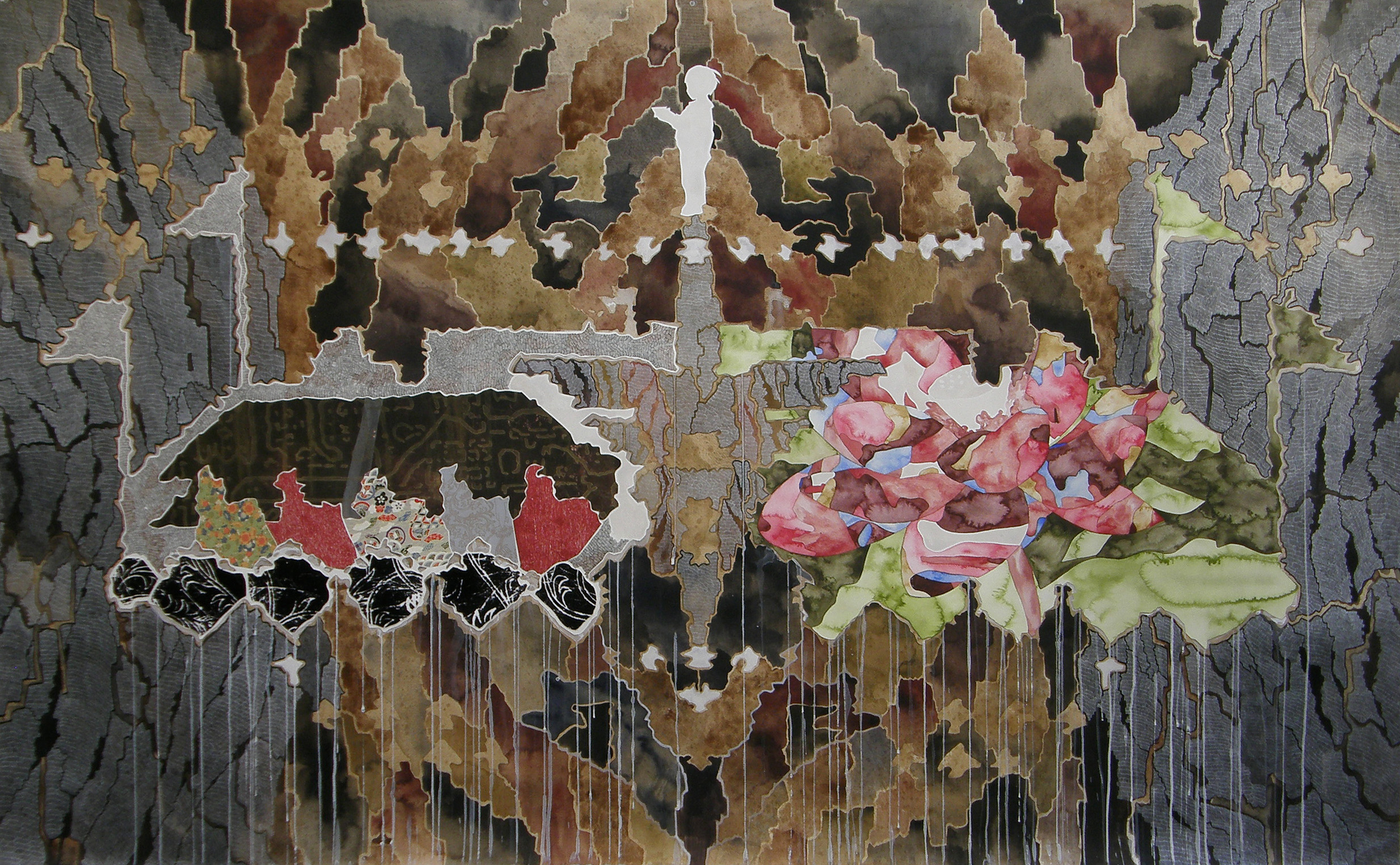 Belinda Fox. Monument 2008–2010. painting, drawing and collage on paper. Courtesy of the artist and Niagara Galleries.