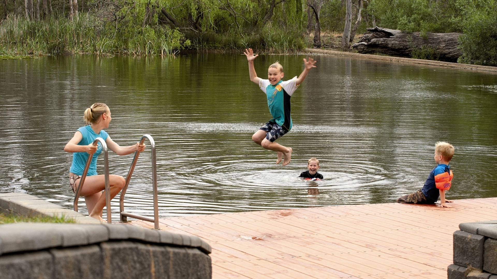 Swimming in Loddon Valley