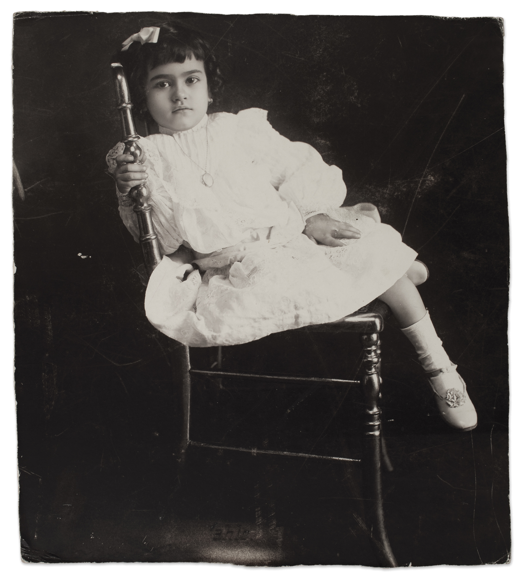 **Frida at the age of 5**, Anonymous, 1912 © Frida Kahlo Museum