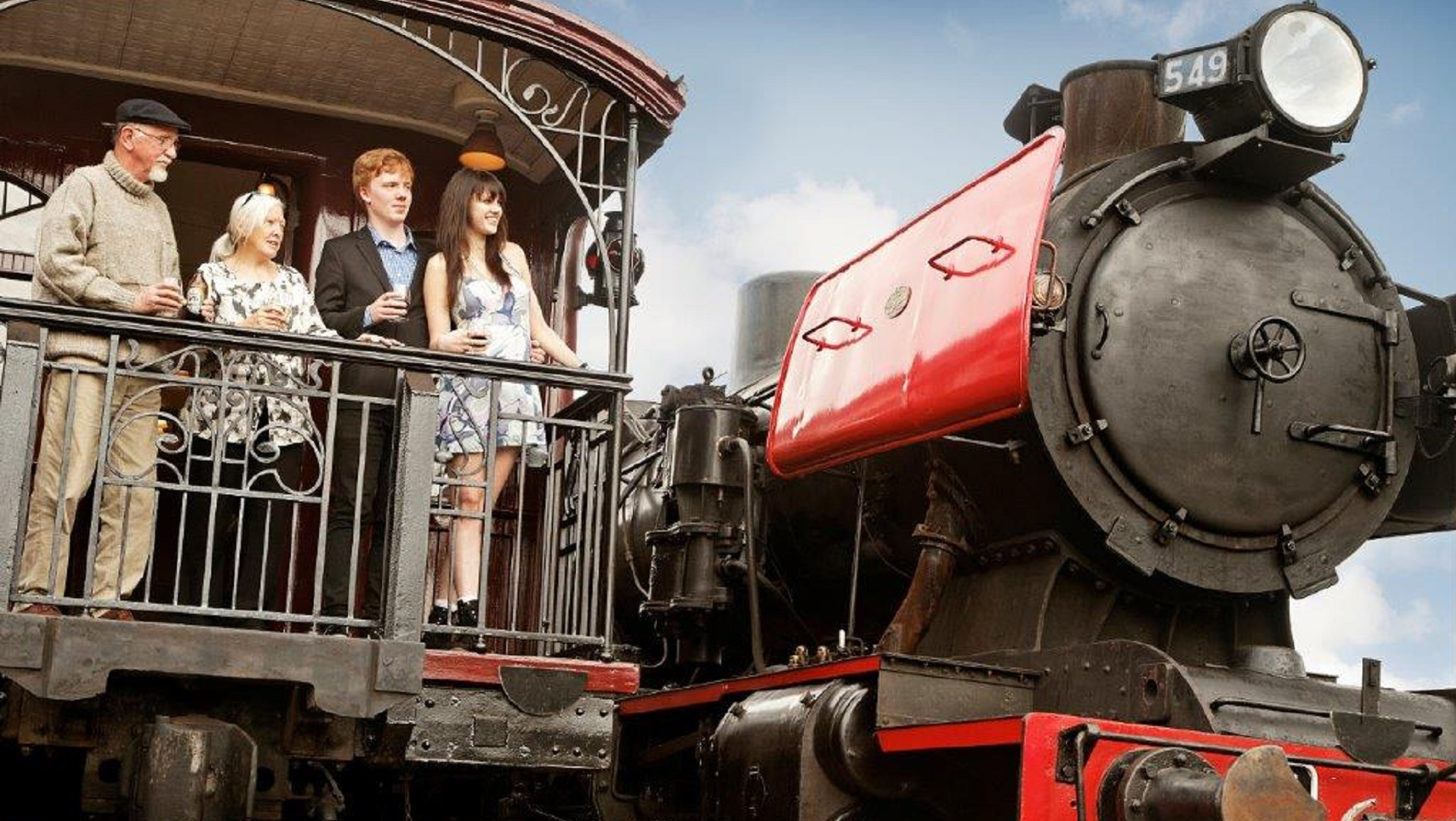 Victorian Goldfields Railway steam train