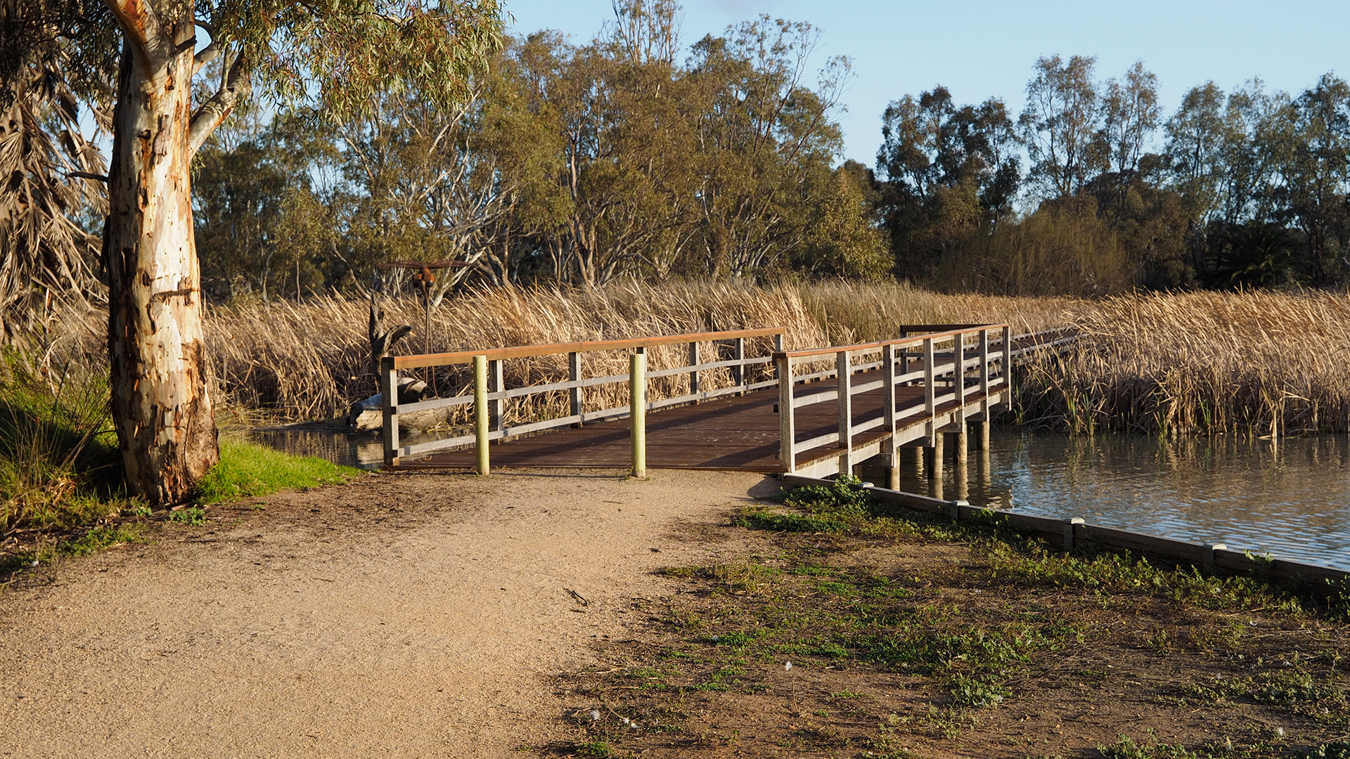 Access to boardwalk at Little Lake Boort