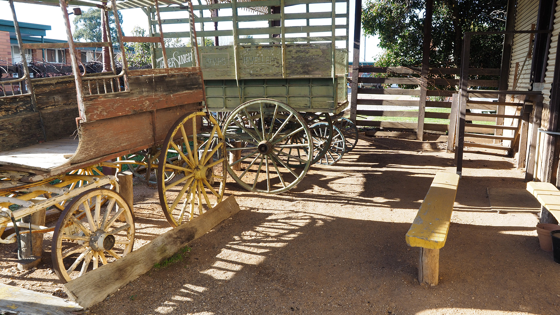Historic buggies at the museum