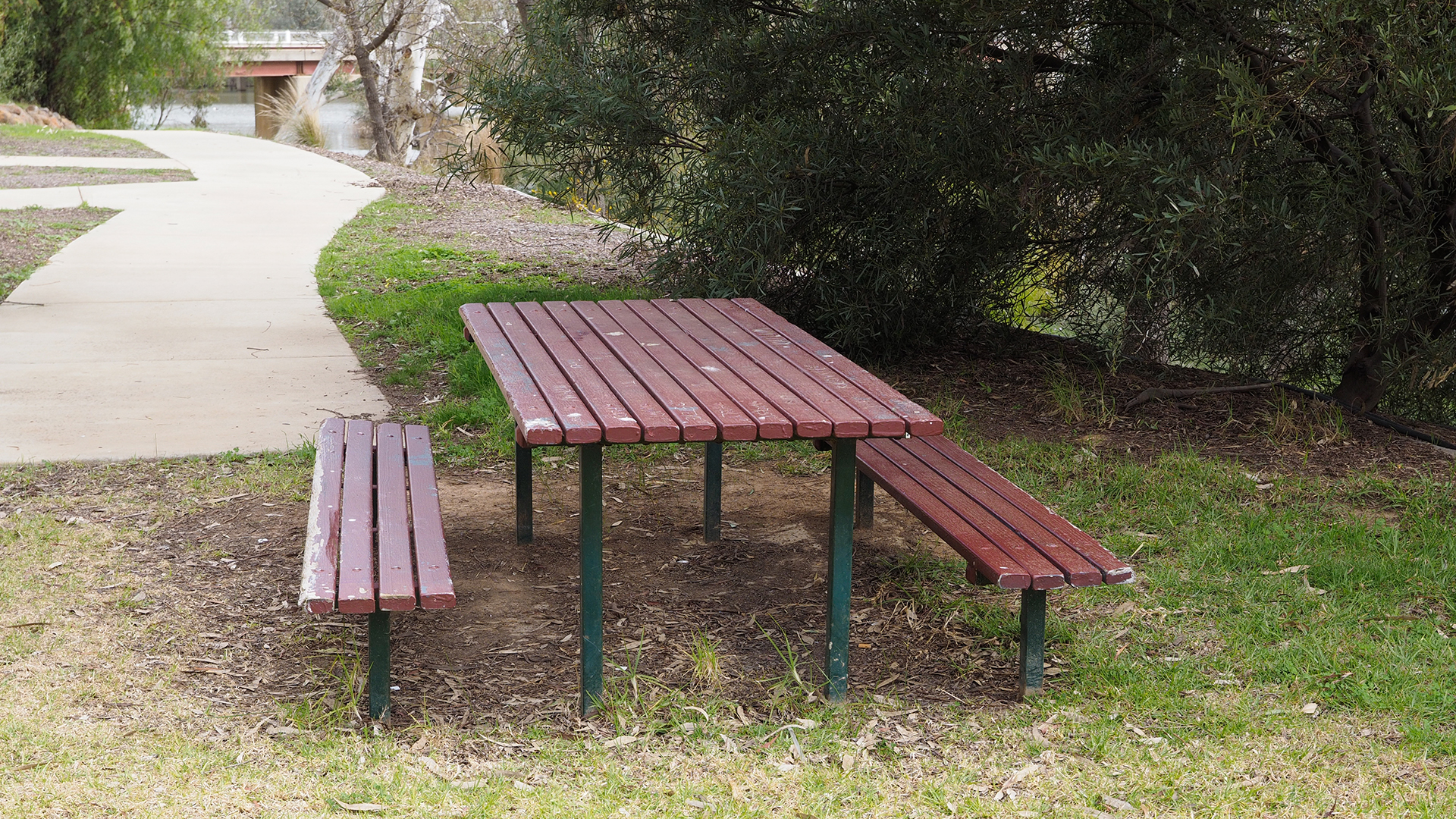 Picnic tables are accessible