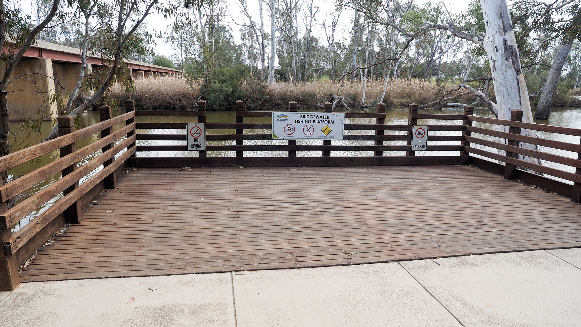 Fishing and viewing platform on the Loddon River