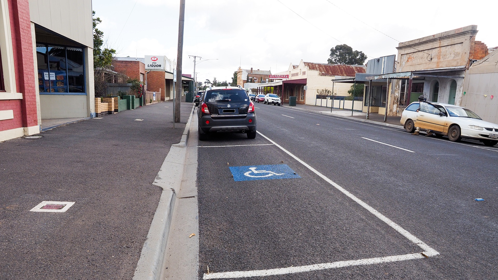 Disabled parking is available on Brooke Street in Inglewood