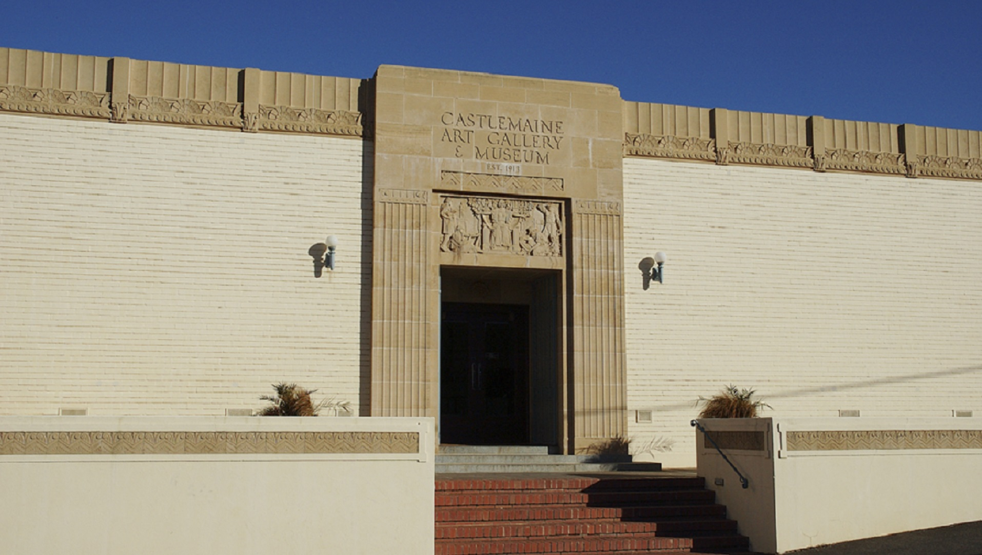 The art deco Facade of the Castlemaine Art Museum