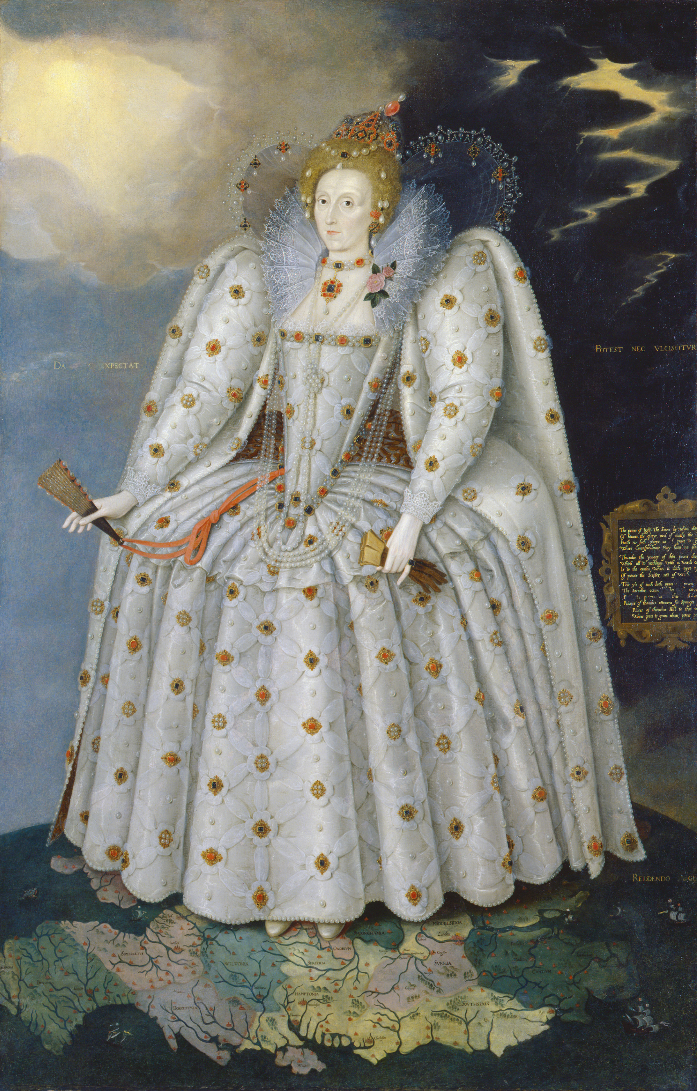 Queen Elizabeth I (The 'Ditchley' portrait) By Marcus Gheeraerts the Younger, c.1592 © National Portrait Gallery, London