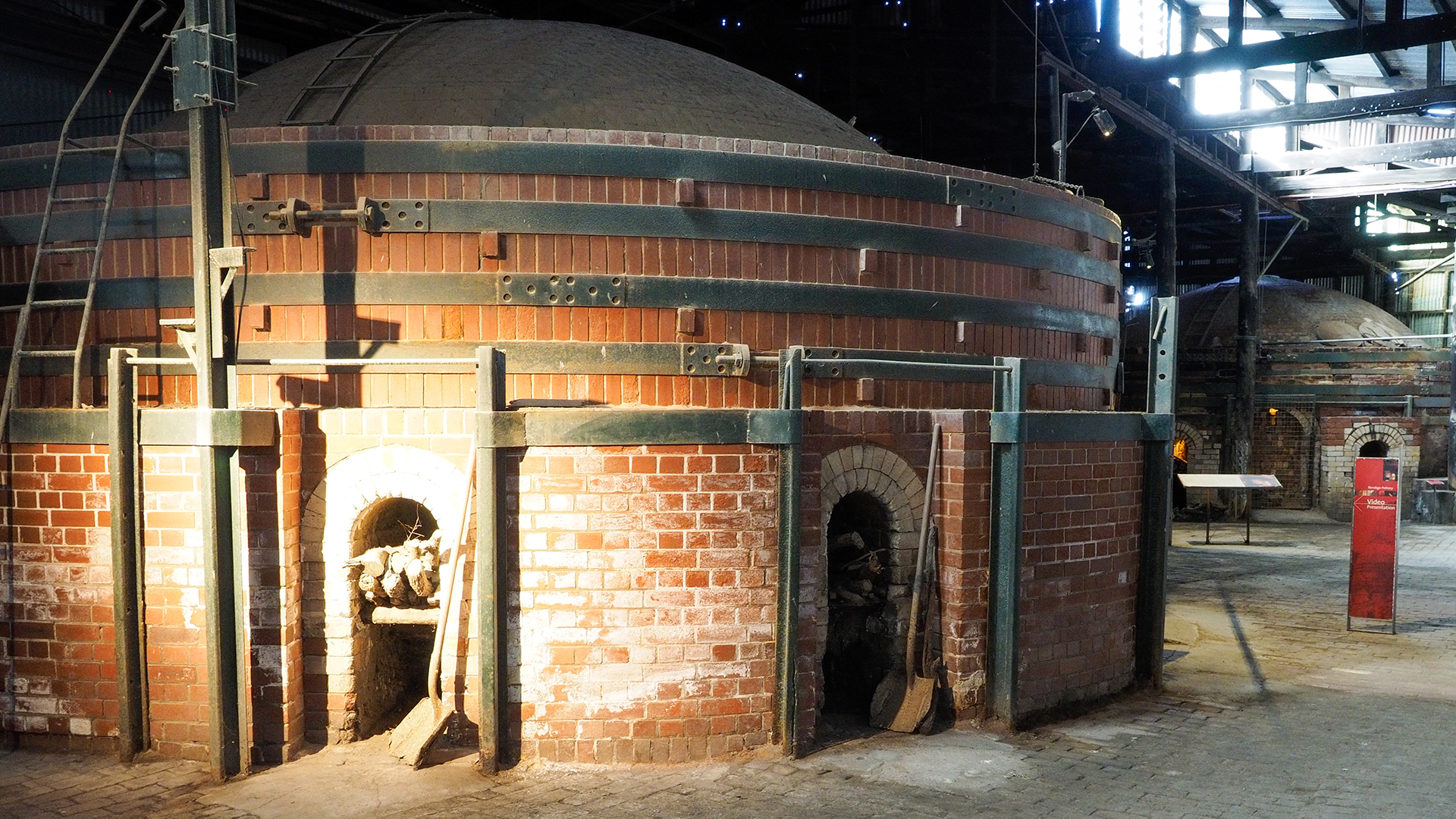 The factory tour is accessible throughout including the old kilns