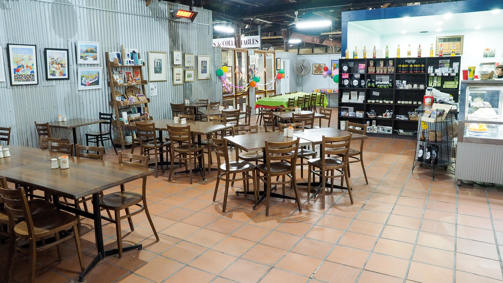 The cafe at Bendigo Pottery is accessible