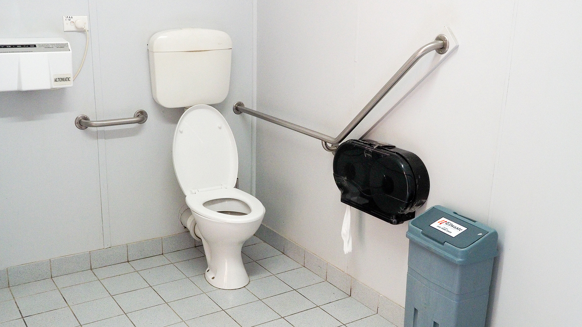 An accessible toilet is located near the artists studios