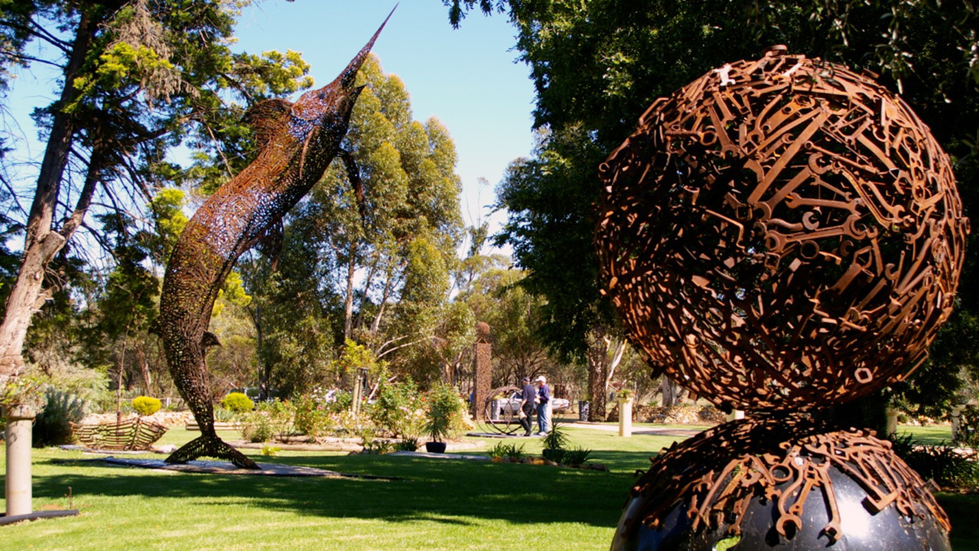 Scupltures at John Piccoli's Star Spanner Sculpture Garden