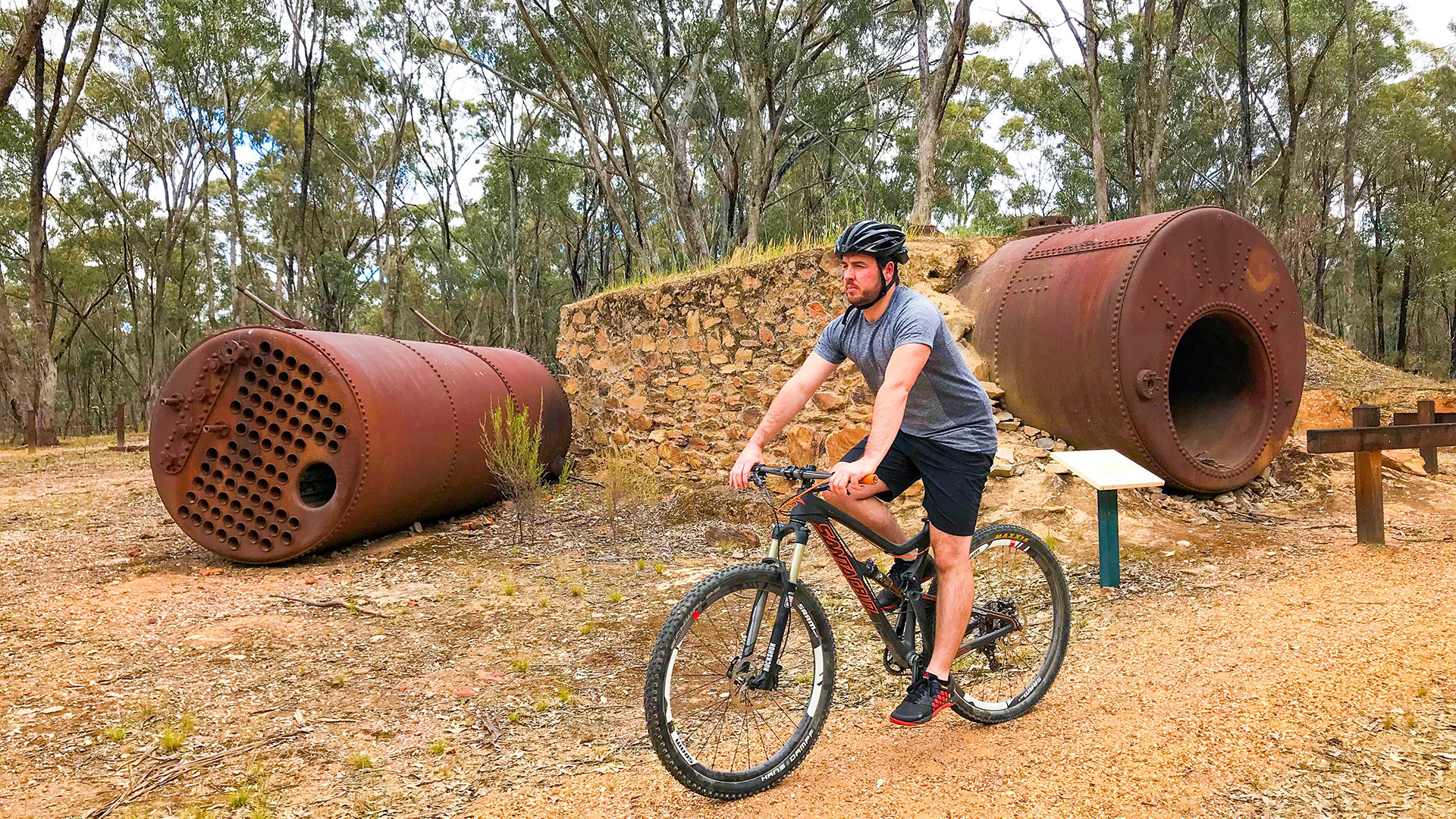 Cycling heritage Region Dunolly