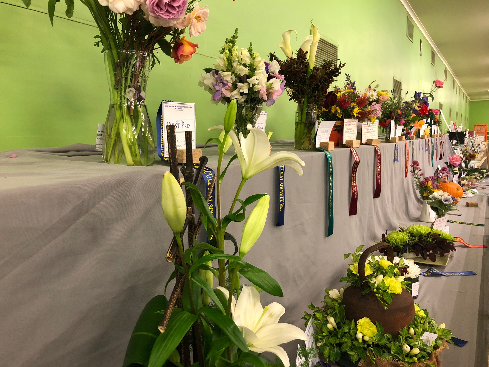 Flowers on show at the Castlemaine Annual Show