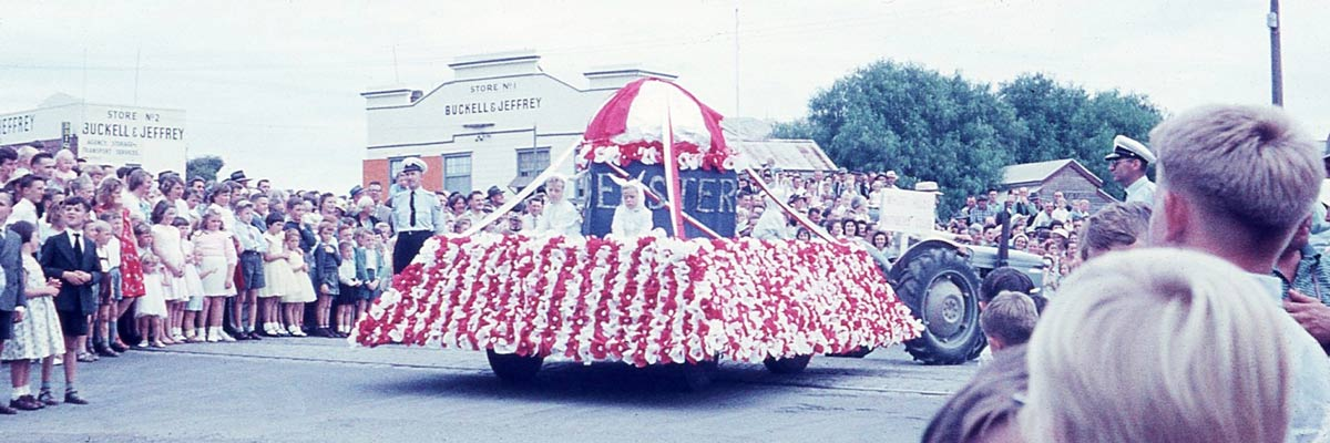 Bendigo Easter Fair Grand Parade, c1965. Photograph: Doug Every. Image courtesy of Philippa Johanson