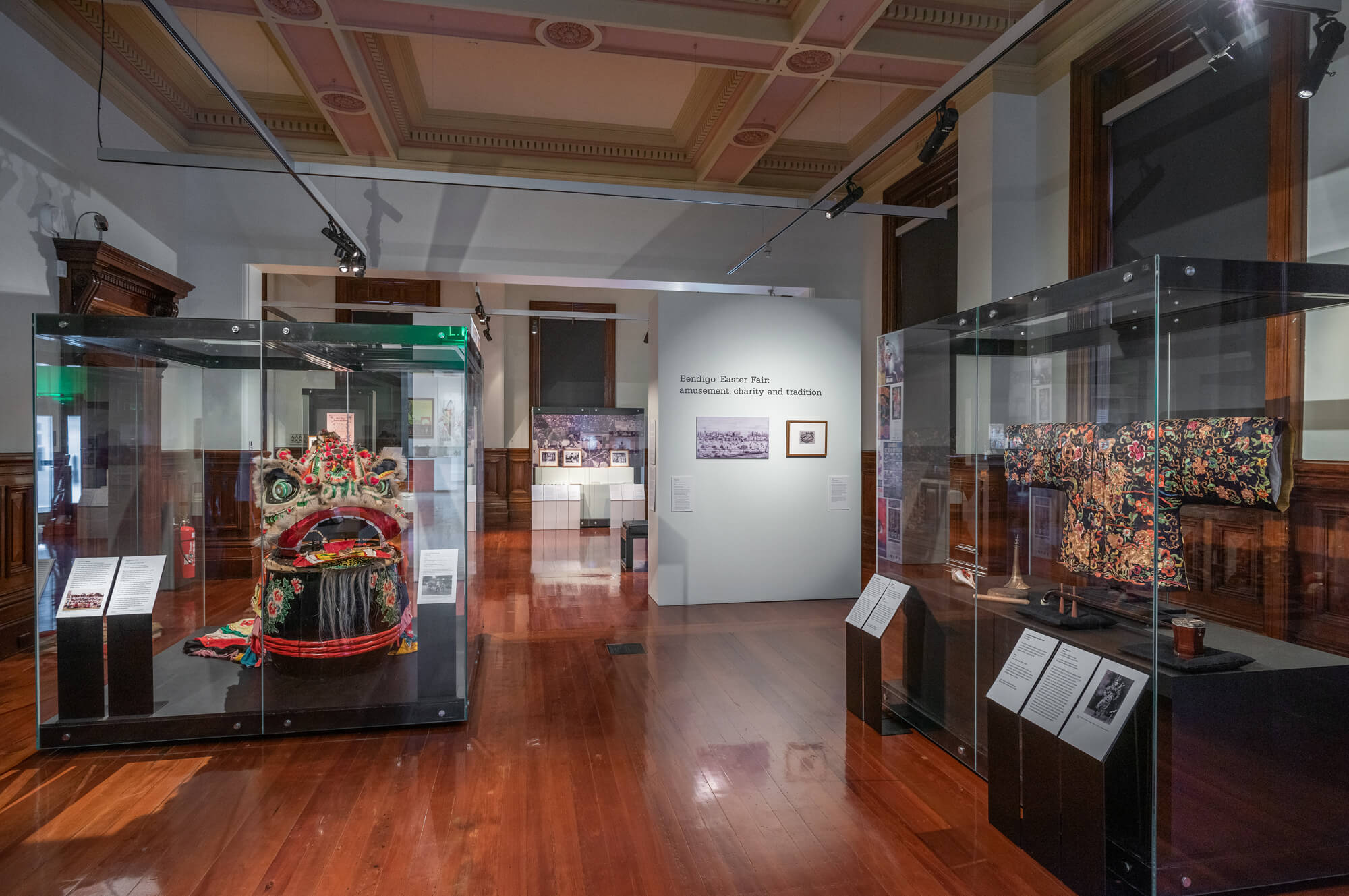 Bendigo Easter Fair: amusement, charity and tradition, installation view, Post Office Gallery. Photograph: Ian Hill