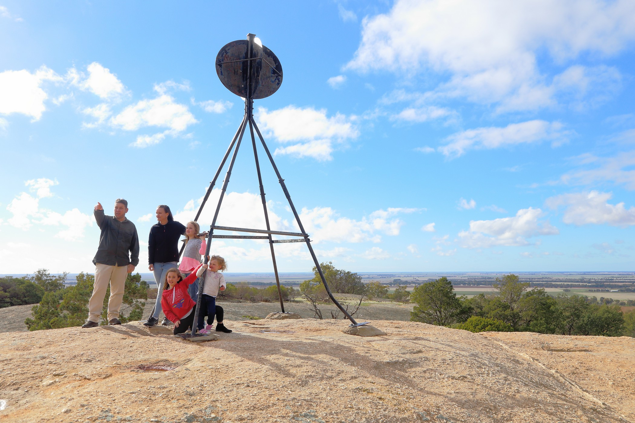 Family at the Terrick Terrick National Park
