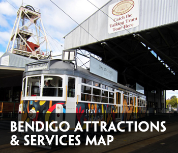 Bendigo Attractions Map