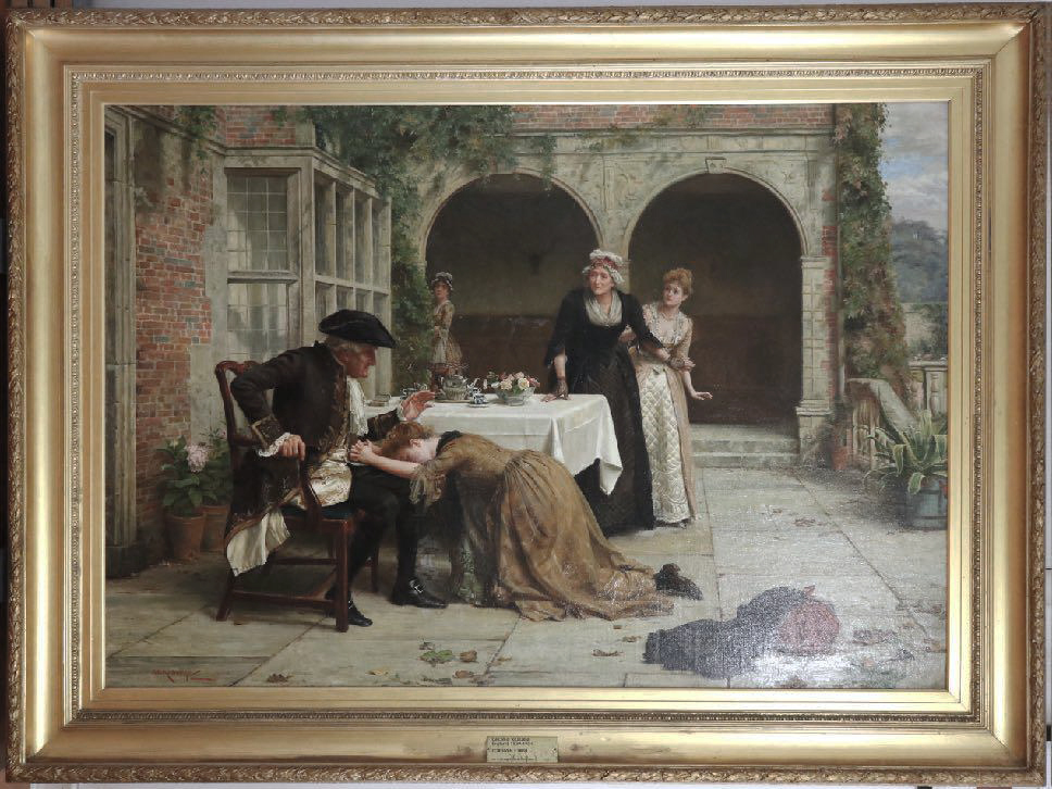 George Goodwin Kilburne, **Forgiven** c1888, oil on canvas. Bendigo Art Gallery Collection
