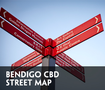 Bendigo CBD Map