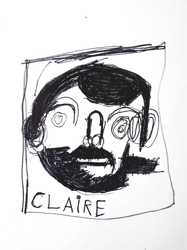 Claire Clarke, Portrait of Mark With Beard
