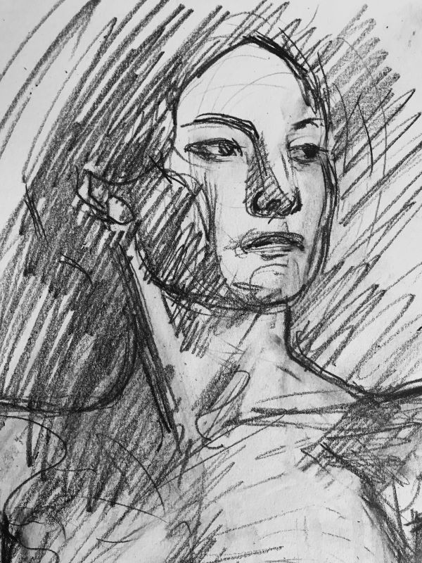 Jane Ineson, Detail, Life Drawing