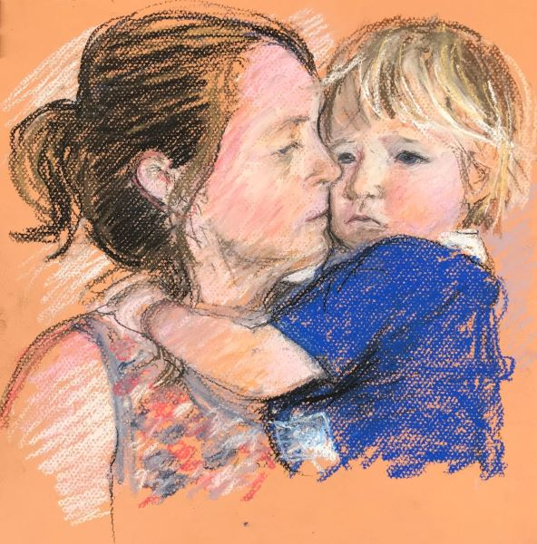 Jane Ineson, Mother's Comfort - Tania and Hudson