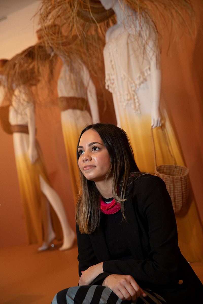 Bendigo Art Gallery First Nations curator Shonae Hobson who created Piinpi: Contemporary Indigenous Fashion. Photo by George Serras, National Museum of Australia